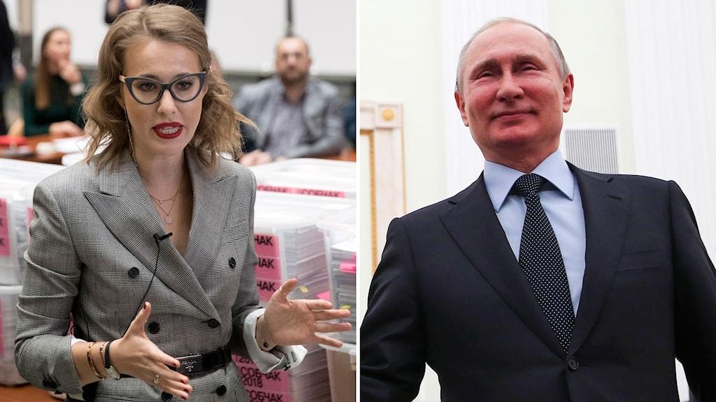 Ksenija Sobtjaks och Vladimir Putin