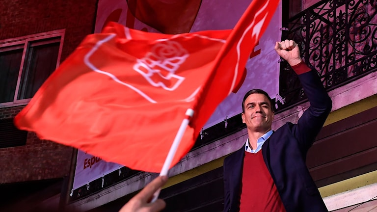 Socialistpartiets ledare Pedro Sánchez