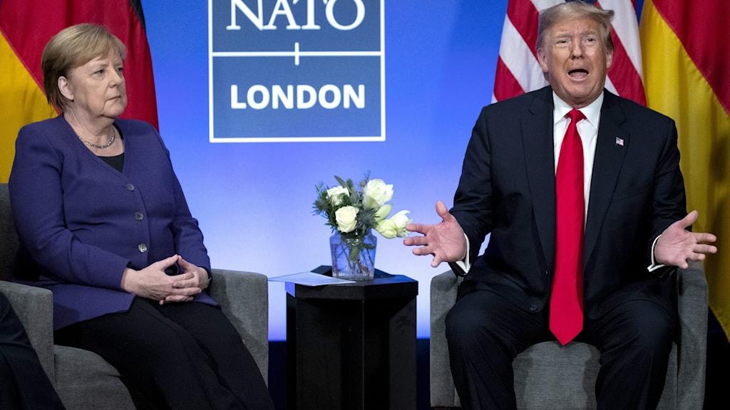 Angela Merkel och Donald Trump
