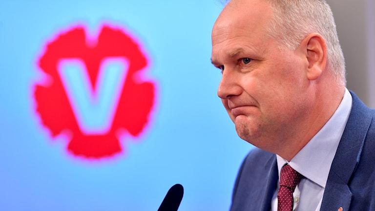 Vänsterpartiets ledare Jonas Sjöstedt