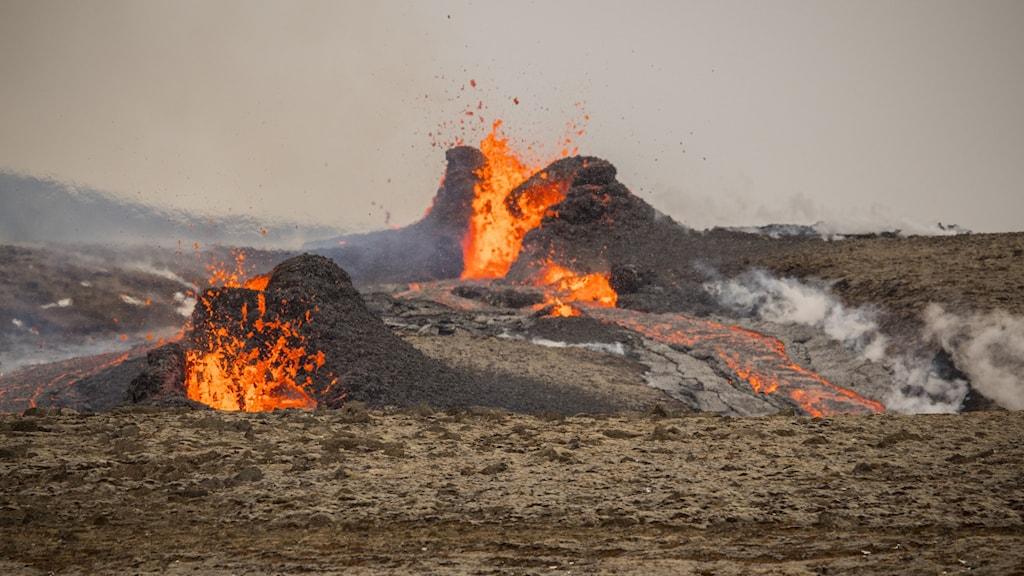 Vulkanen på Island.