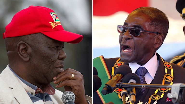 Morgan Tsvangirai och Mugabe.