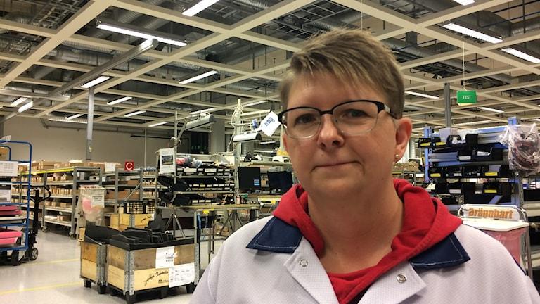 René Löfgren som arbetar som montör på GE healthcare i Umeå skulle vilja ha mer kompetensutveckling.
