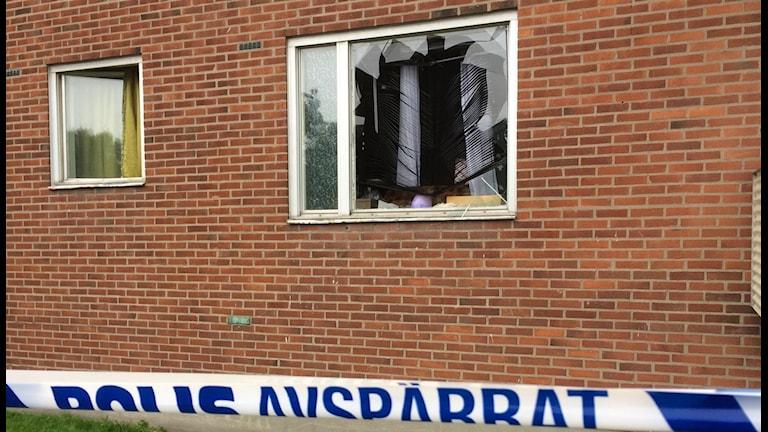 Ett barn omkom i explosionen i Göteborg  Foto: Carina Holmberg / Sveriges radio
