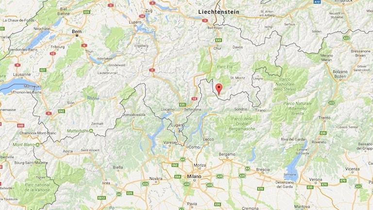Raset har skett i östra Schweiz.