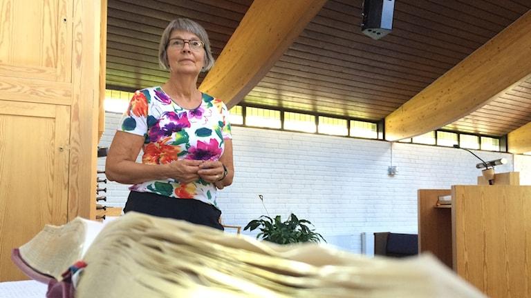 Berit Hallqvist är ordförande för Equmeniakyrkan i Fristad utanför Borås.