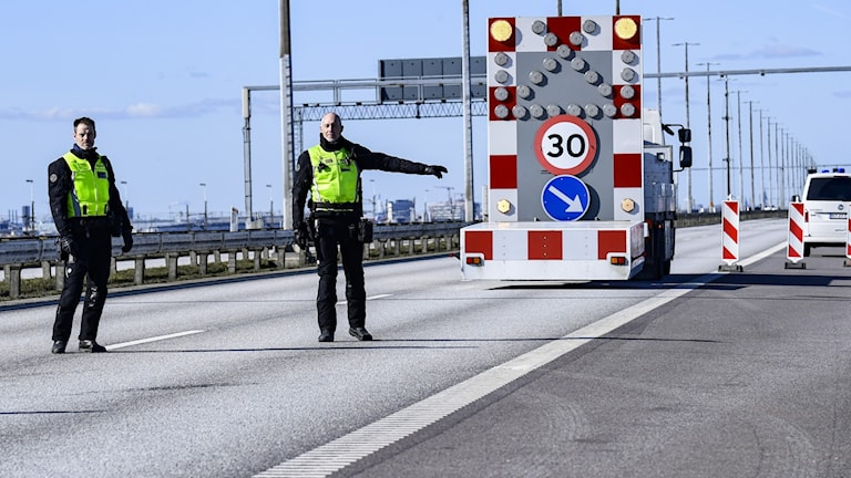Gränskontrollen på Öresundsbron.