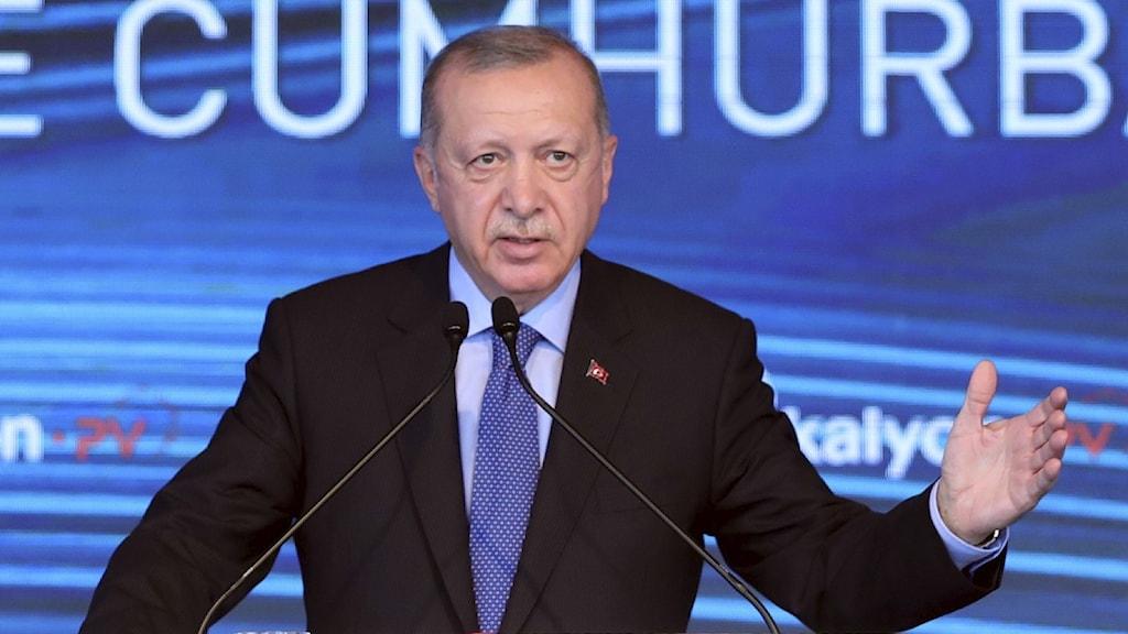Turkiets president Tayyip Erdogan.