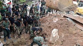 Räddningsarbete efter sopkatastofen på Sri Lanka