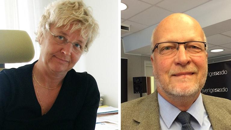 Britta Flinkfeldt (S), kommunalråd i Arjeplog, och landshövdingen i Norrbottens län, Sven-Erik Österberg.