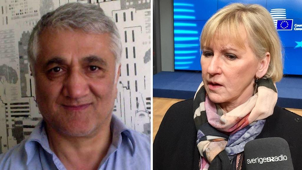 Hamza Yalcin och utrikesminister Margot Wallström (S).