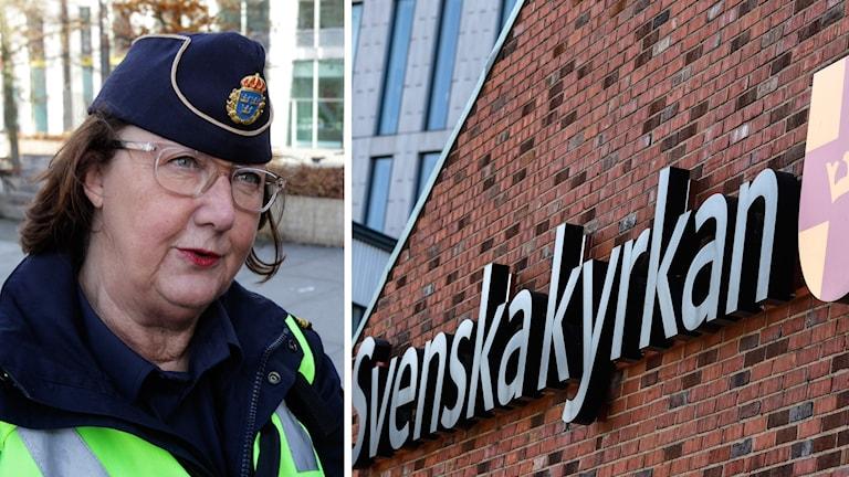 En polis och svenska kyrkan.