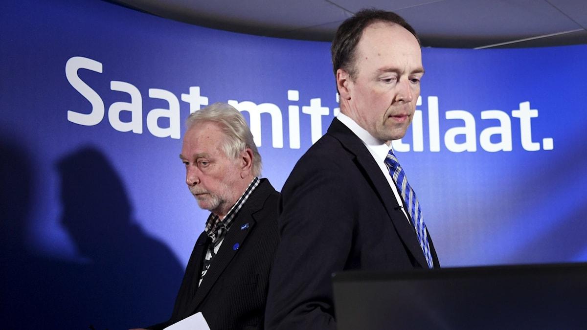 Sannfinländarnas partiledare Jussi Halla-aho