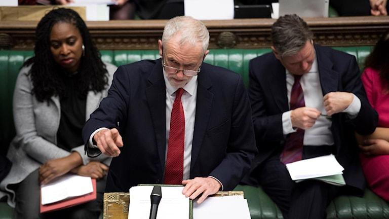 Jeremy Corbyn i parlamentet.