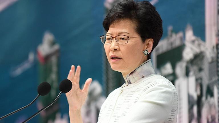 Hong Kongs chefsminister Carrie Lam.