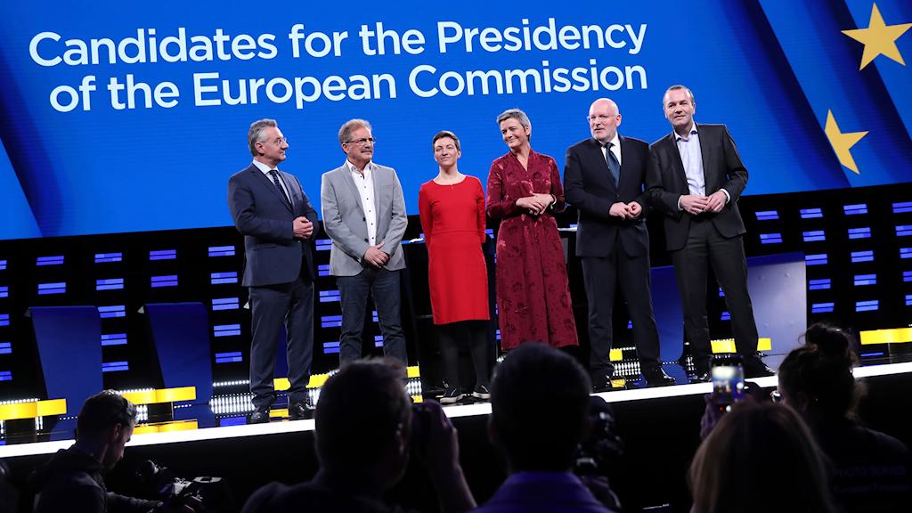 Kandidaterna som konkurrerar om att leda EU-kommissionen.