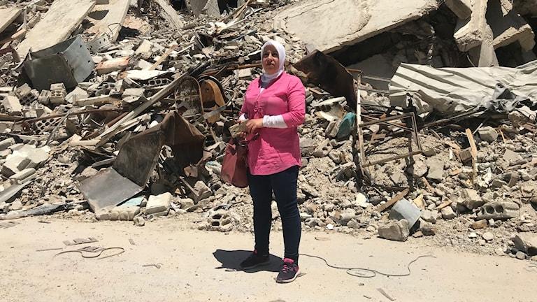 Majd som förlorat sitt hem har återvänt till en total förstörelse.