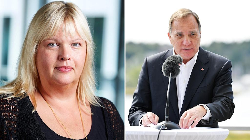 Anna Lööf Hedh och Stefan Löfven.