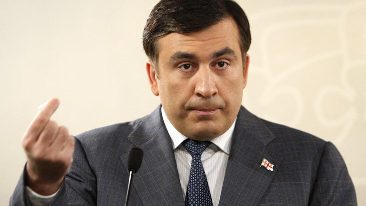 Georgiens tidigare president Micheil Saakasjvili.