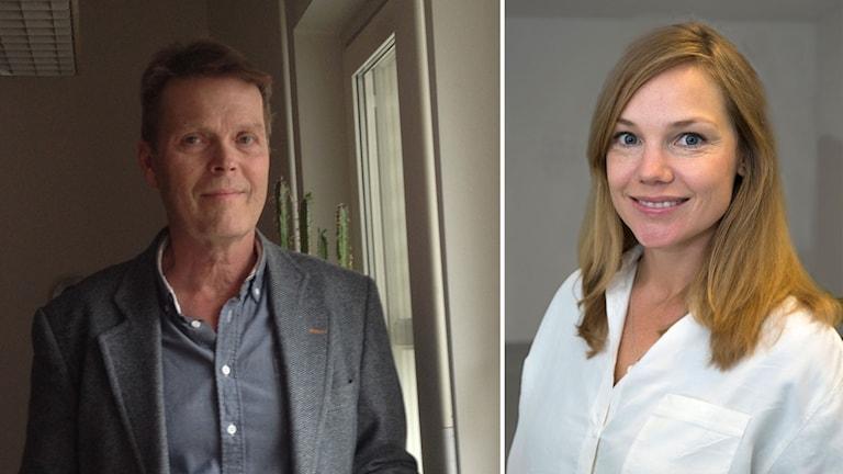 Delad bild: Strokeriksförbundets Kjell Holm och ST-läkaren Teresa Ullberg.
