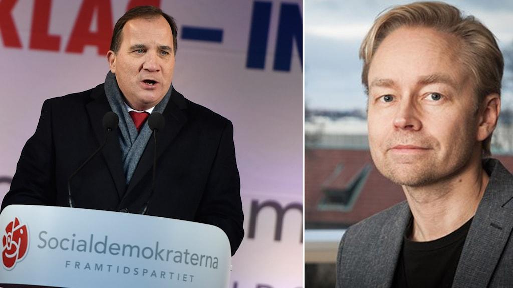 Statsminister Stefan Löfven (S) jultalar på Stora torget i Enköping på lördagen.