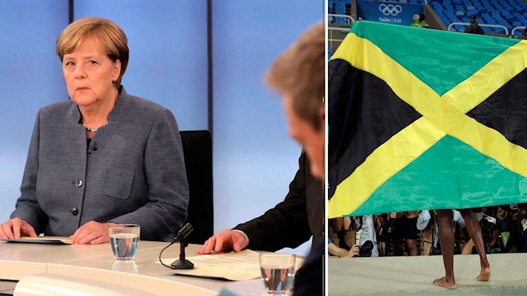 Angela Merkel, Jamaicas flagga