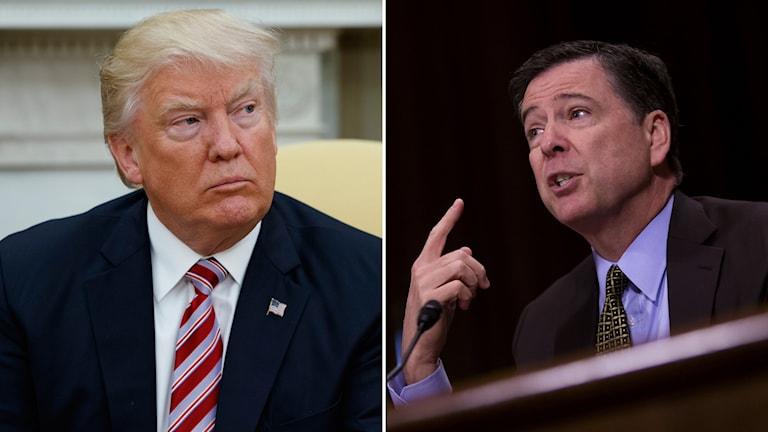 Donald Trump och sparkade FBI-chefen James Comey.