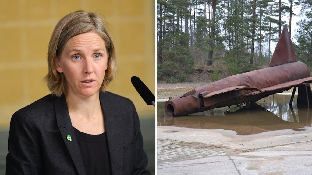 Miljöminister Karolina Skog om släckskum som försvaret använder