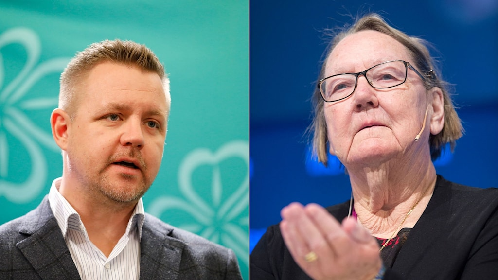 Centerns Fredrik Federley, till vänster Marit Paulsen.