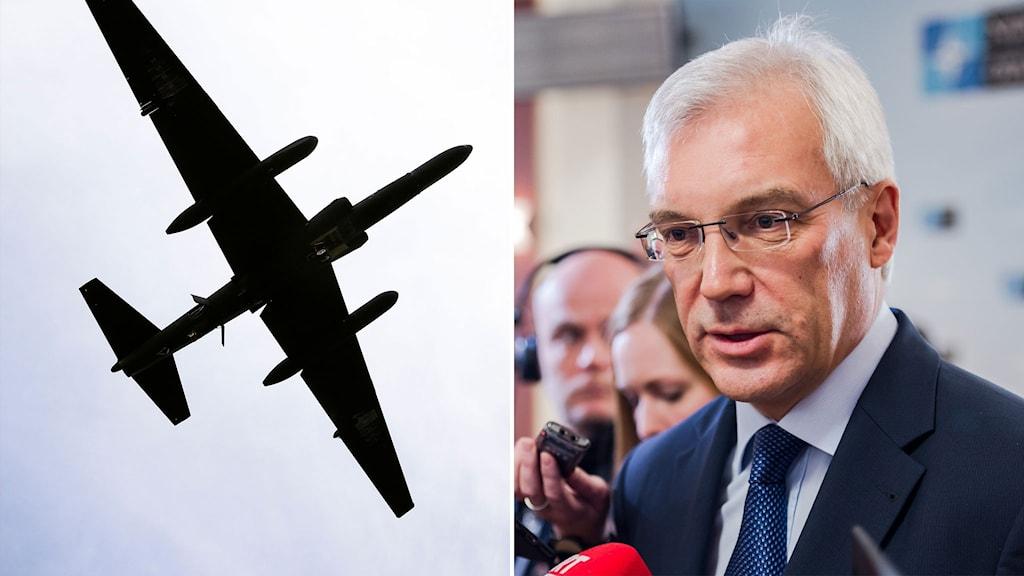 Spionflyg och bild på Rysslands biträdande utrikesminister