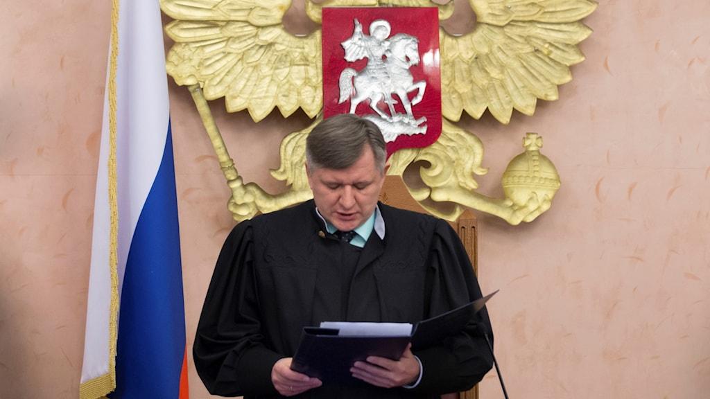 Foto från när Rysslands högsta domstol förbjöd Jehovas vittnen från att vara i landet.