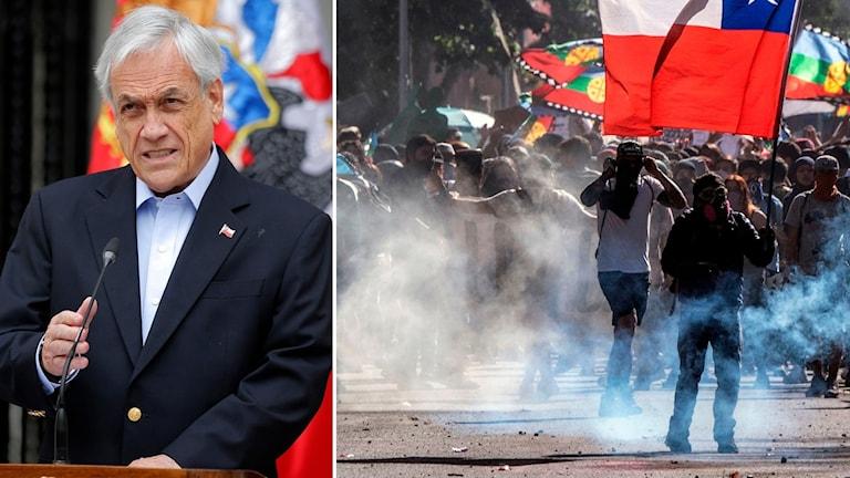 Chile drar sig ur som arrangör av klimat-toppmötet Cop25, det säger landets president Sebastian Piñera efter den senaste tidens omfattande protester.
