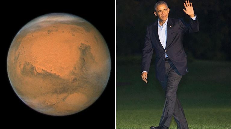Obama om att skicka människa till mars