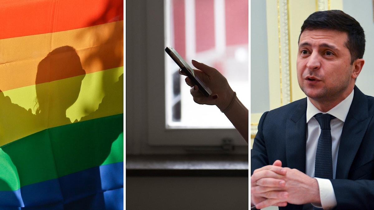 Årets pridemanifestation vänder sig direkt till Ukrainas president Volodymyr Zelenskyj.