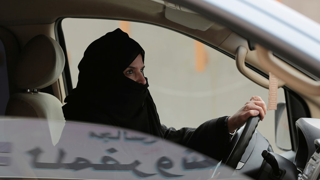 Saudiarabien, bil, trafik, kvinna