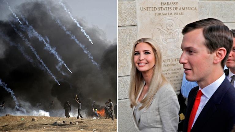 Israel, Kushner och Ivanka Trump.