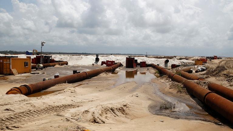 Arkivbild. Oljeledningar utanför Lagos, Nigeria.