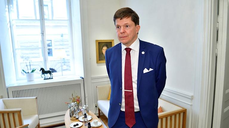 Riksdagens nye talman Andreas Norlén