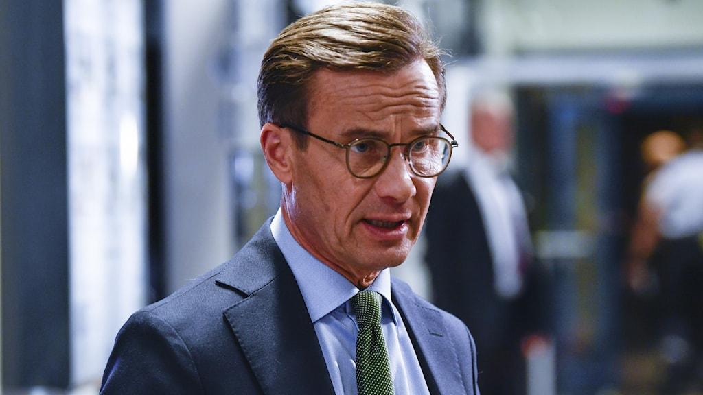 Ulf Kristersson (här i partiledardebatten). Foto