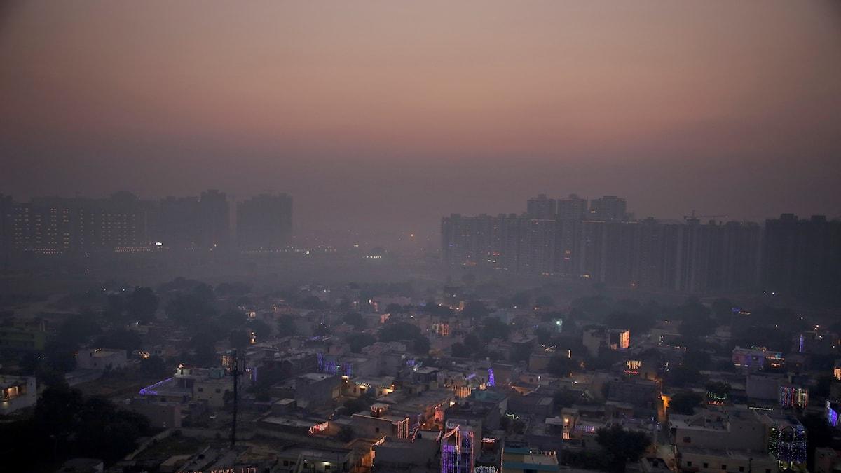 Luftföroreningar indien new dehli