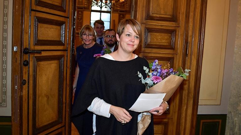 Bilden visar Katrin Stjernfeldt Jammeh (S), omvald ordförande för Malmös kommunstyrelse. Foto: Johan Nilsson/TT.