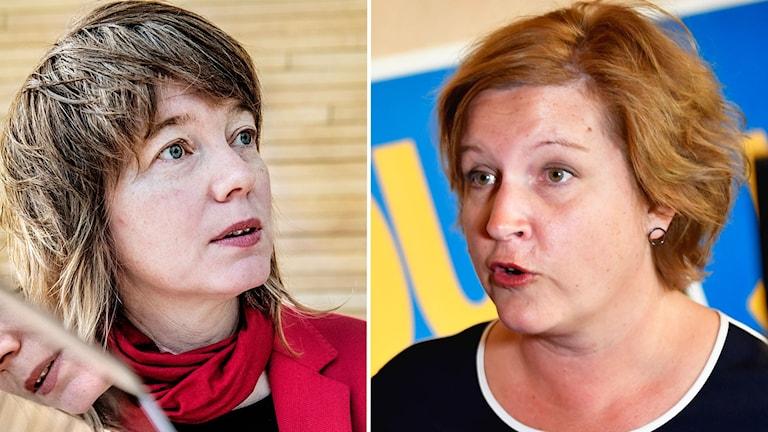 Liberalen Karin Karlsbro och Vänsterpartisten Malin Björk.