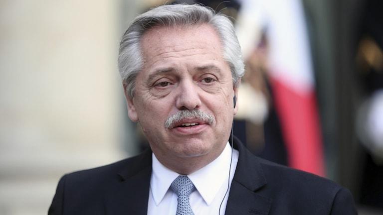 Argentinas president Alberto Fernández