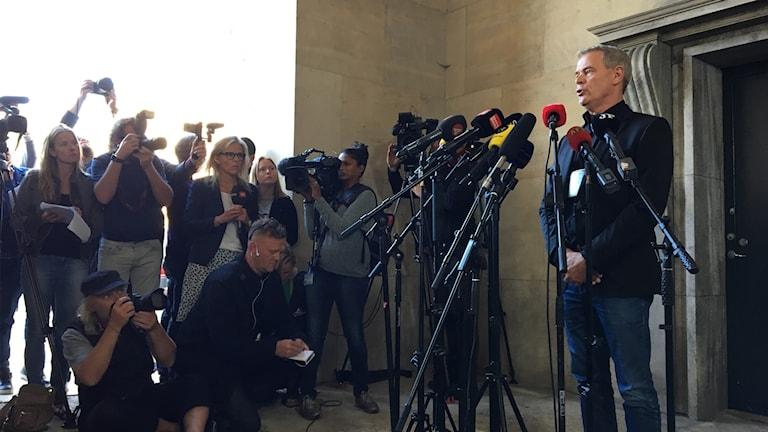 Danska polisens presskonferens