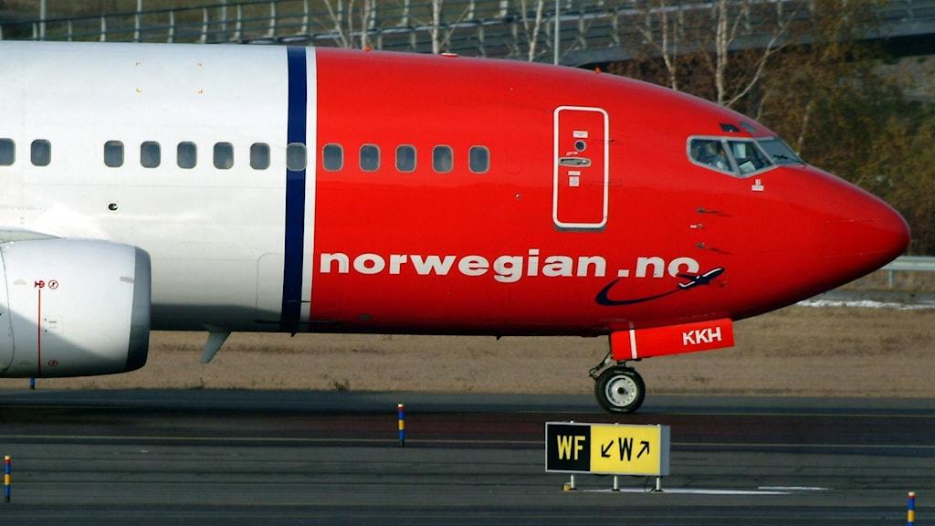 Ett av Norwegians plan på Arlanda