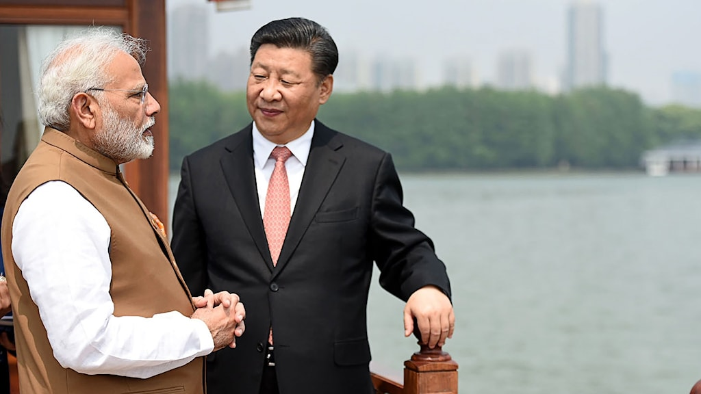 Narendra Modi och Xi Jingping
