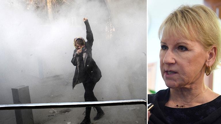 Sveriges utrikesminister Margot Wallström kommenterar protesterna i Iran