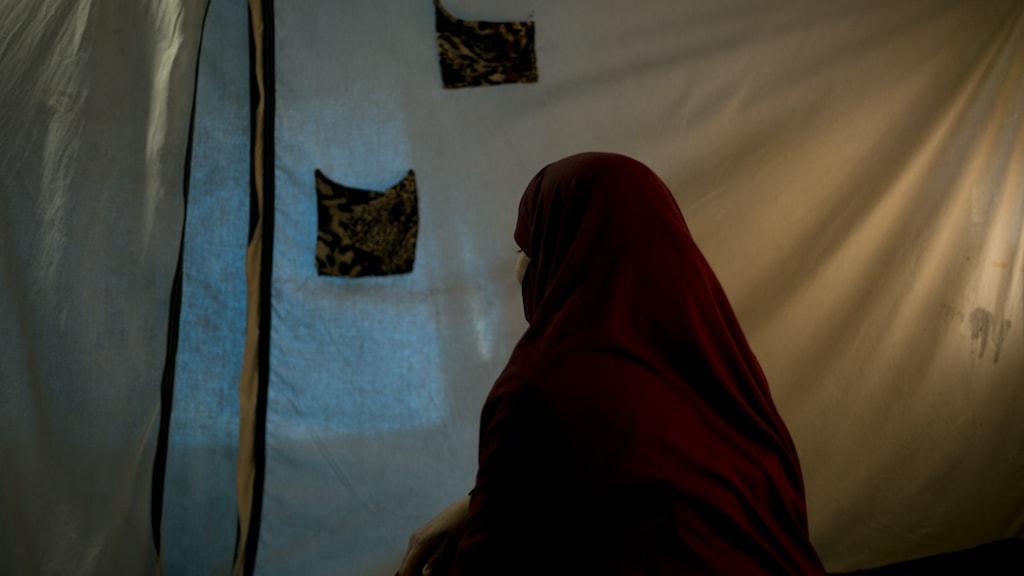 Grenrebild från Roj-lägret, det läger där de flesta IS-kvinnorna sitter.