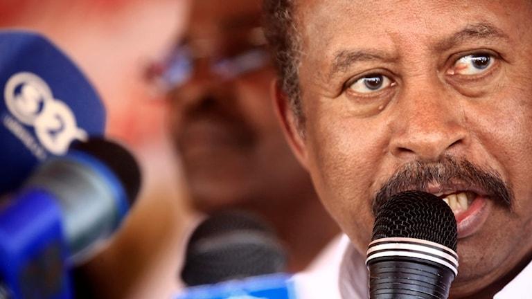 Sudans premiärminister Abdallah Hamdok.