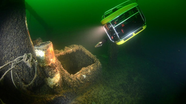 Villon ROV Remotely Operated Vehicle vid vraket Thetis. Foto: P-DYK 2014